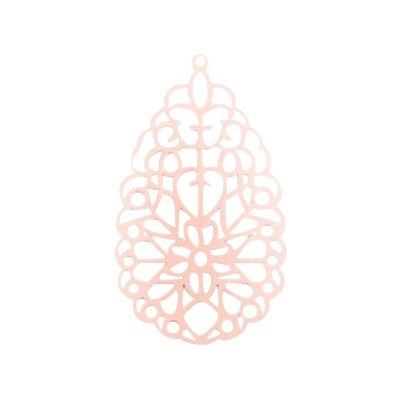 Bohemian hanger druppel licht rose