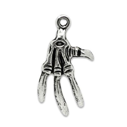 Bedel hand antiek zilver (2x)