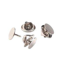 Broche pin verzilverd (6x)