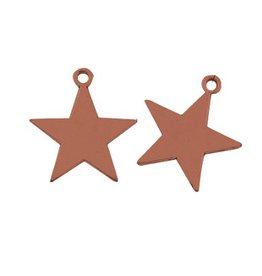 Bedel metalen ster roodkoper (1x)