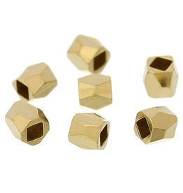 Facetkraal kubus goud (10x)
