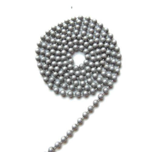 Ball chain mat zilvergrijs 1.2 mm