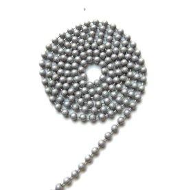 Ball chain mat zilvergrijs 2 mm