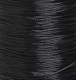 Waxkoord polyester zwart 1 mm (5m)