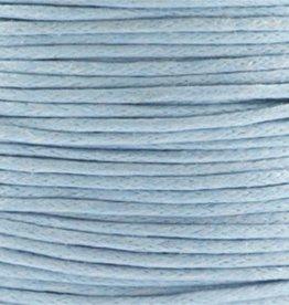 Waxkoord katoen grijsblauw 1 mm (5m)