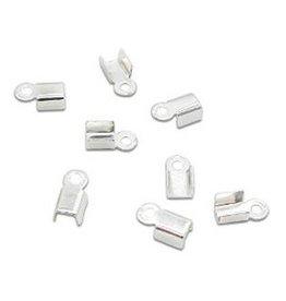 Koordklem zilver 6 x 3 mm (30x)