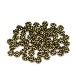 Mini tussenkraal antiek brons 4 mm (30x)