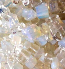 Opaalkralen chips (15x of streng)