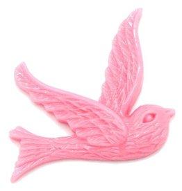 Flatback vogel roze (3x)