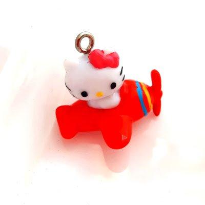 Hello Kitty vliegtuig oranje