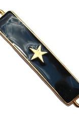 Tussenstuk bar met ster zwart / goud (1x)