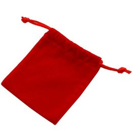 Rood fluwelen zakje