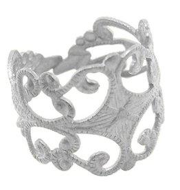 Zilverkleurige ring (component)