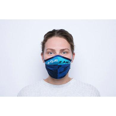Yamuna Forzani Designer face mask blue