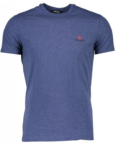 Dsquared2 Round Neck Basic T-shirt Blue