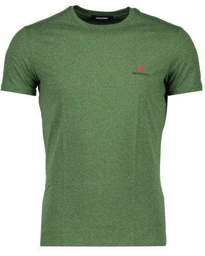 Dsquared2 Round Neck Basic T-shirt Green
