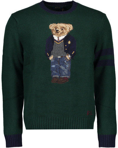 Polo Ralph Lauren Bear Wool Jumper Groen