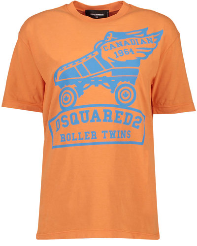 Dsquared2 Rollerskate Rock Fit T-shirt Peach