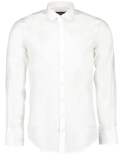 Dsquared2 Carpenter No Pince Fit Popeline Shirt White
