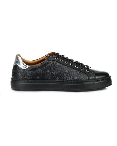 MCM Worldwide Visetos Low Top Sneakers Zwart