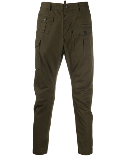 Dsquared2 Cotton Twill Sexy Cargo Fit Pants Military Green