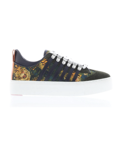 Dsquared2 Lace Up 251 Maxi Sole Tiger Print Sneaker Multi