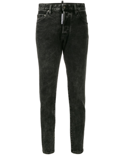 Dsquared2 Medium Waist Skinny Jeans Black