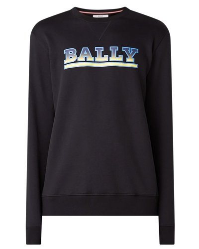 Bally Logo Print Sweater Black