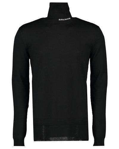 Balmain  Merino Turtleneck Sweater Black