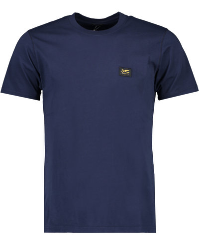 Denham Applique T-shirt Marine