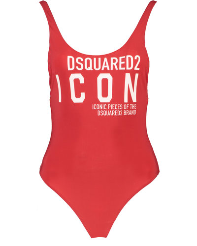 Dsquared2 Icon Swimsuit Rood