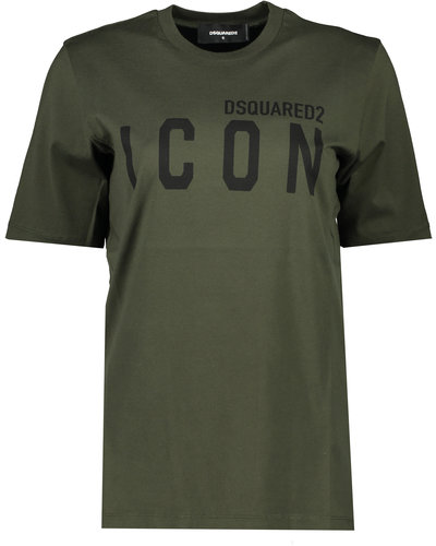Dsquared2 Icon T-shirt Legergroen