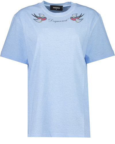 Dsquared2 Icon Birds T-shirt Blauw