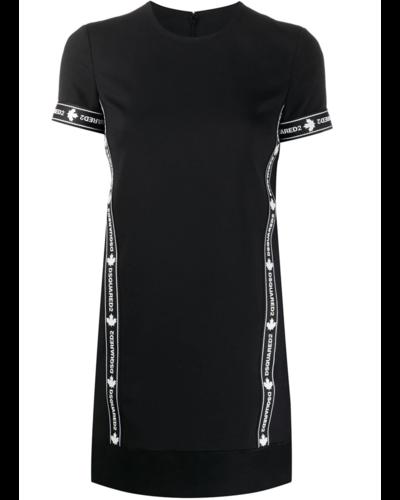 Dsquared2 Tape Logo Dress Zwart