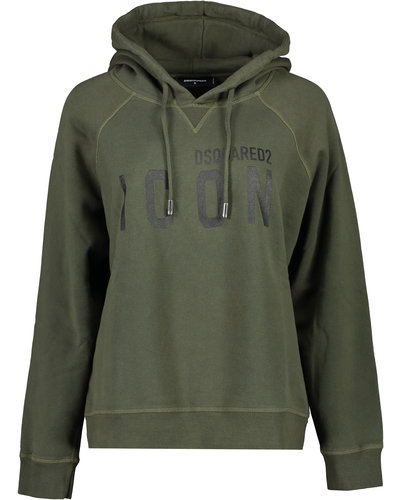 Dsquared2 Icon Hoodie Army Green