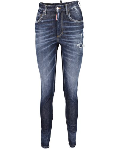 Dsquared2 High Waist Twiggy Jeans Blau
