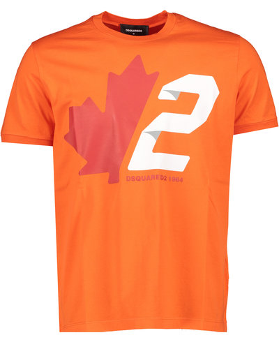 Dsquared2 Maple Leaf 2 T-shirt Oranje