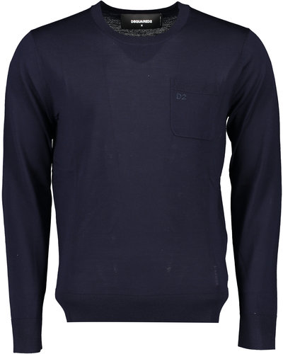 Dsquared2 Chest Pocket Knitwear Sweater Marine