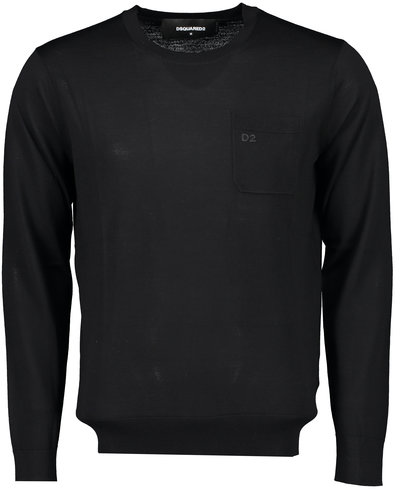 Dsquared2 Chest Pocket Knitwear Sweater Schwarz