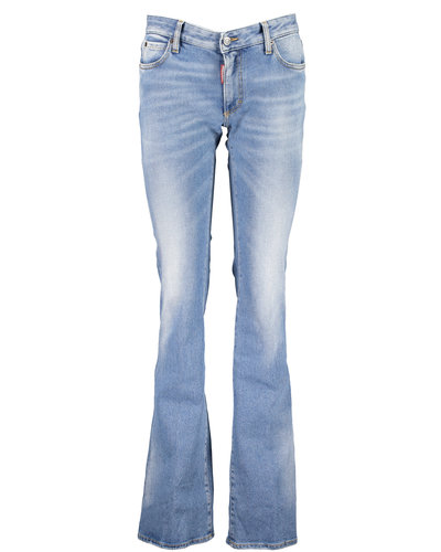 Dsquared2 Medium Waist Flare Jeans Blauw
