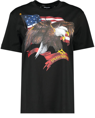 Dsquared2 American Eagle T-shirt Schwarz