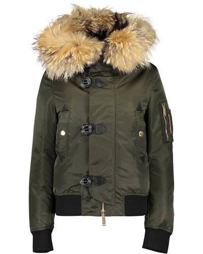 Dsquared2 Icon Jacket Legergroen