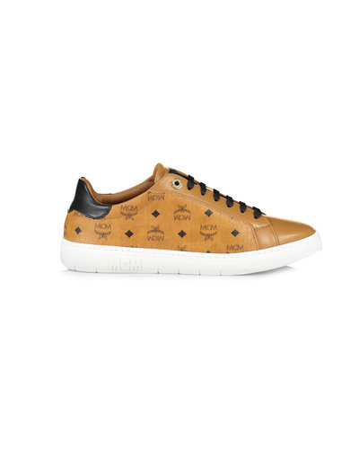 MCM Worldwide Terrain Derby Sneakers Cognac