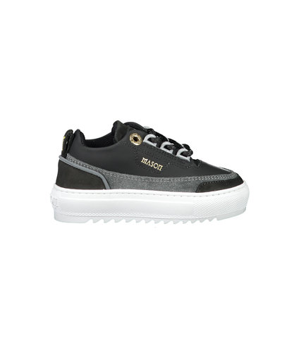 Mason Garments Kids  Firenze Suede Sneakers Schwarz