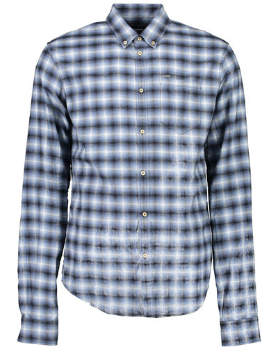 Dsquared2 Flanel Check Cotton Shirt Blauw