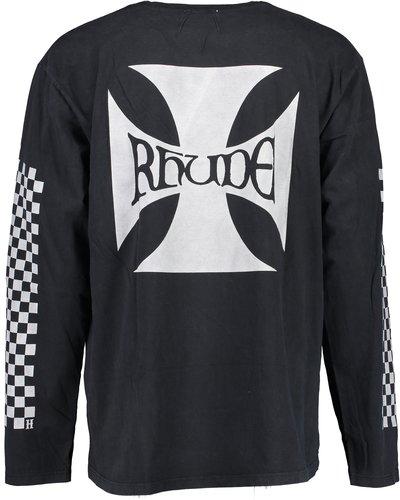 Rhude Classic Checkers LS T-Shirt Zwart