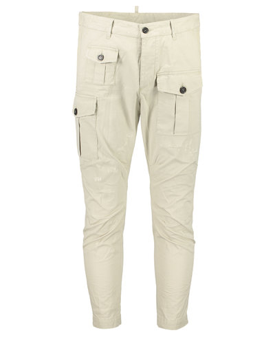 Dsquared2 Cotton Twill Sexy Cargo Fit Pants Beige