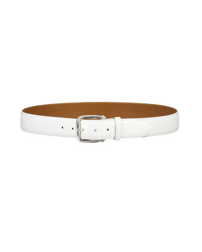 D'Amico Leather Belt White