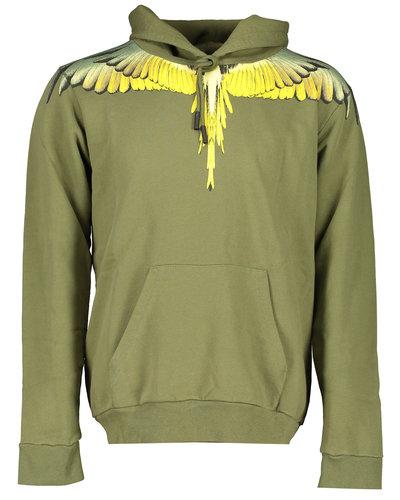Marcelo Burlon Wings Hoodie Army/Yellow