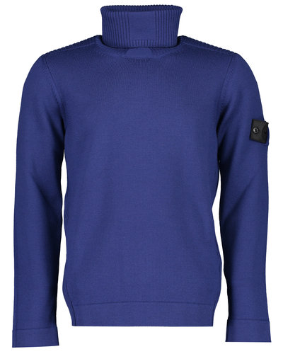 Shadow Project Stone Island 510A5 Knitwear Col Sweater Blauw